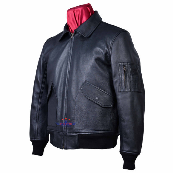 Flight Pilot Bomber Men Real Leather Jacket Airforce CWU-45/P Flying