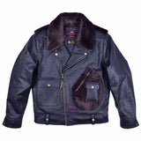 FiveStar Leather SpeedKing Cycle Champ Grizzly Style Back Jacket Seal Brown