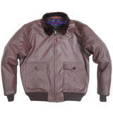 Flight G1 Bomber Naval Flying Men Jacket USN Goatskin Russet Brown Leather
