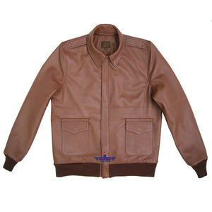 Men Type A2 Repro Military Flight Jacket Real Aniline Goatskin thick leather