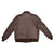 Men A2 Repro David D. Doniger Type Military Flight Real Goatskin Leather Jacket