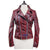 Women Oxblood Real Sheep Leather Jacket Biker style Washed Distressed padded