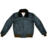 Men Real Goatskin Leather Jacket Seal Brown Wind Breaker