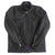 MENS VINTAGE CAFE RACER BLACK GENUINE GOATSKIN LEATHER SLIM FIT REAL BIKER JACKET