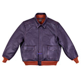 MEN A2 REPRO 1939 WERBER SPORTSWEAR MILITARY FLIGHT STEER HIDE LEATHER JACKET