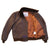 Wind Breaker Men Real Goatskin Russet Brown Leather Jacket with Mouton Fur Collar