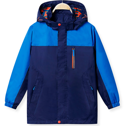 KID1234 Boys' Lightweight Rain Jacket Quick Dry Waterproof Hooded Coat
