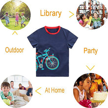 Load image into Gallery viewer, KID1234 Boys T-Shirts Tee Shirts School Short Sleeve Crew Neck Cotton Kids Tops Clothes