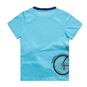 KID1234 Boys T-Shirts Tee Shirts School Short Sleeve Crew Neck Cotton Kids Tops Clothes