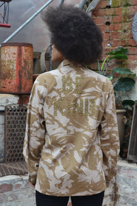 Bird + Wolf Be Kind Desert Camo Jacket - Customised Camouflage Army Jacket