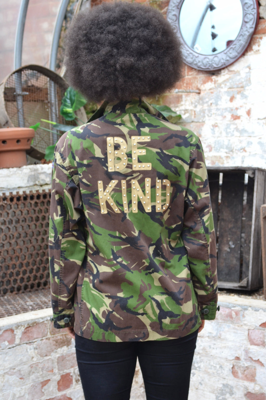 Be Kind Bird + Wolf Green Camouflage Jacket