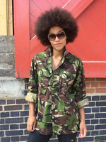 Human Bird + Wolf Green Camo Jacket Customised Camouflage
