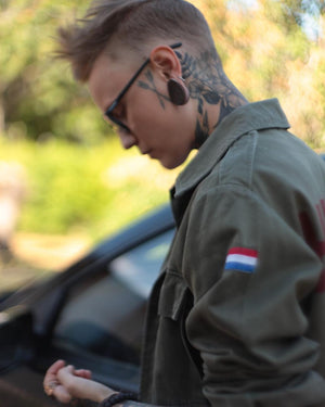 Bird + Wolf Stay Wild Dutch Army Jacket Customised