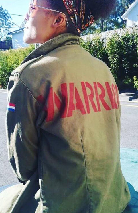 Warrior Bird + Wolf Dutch Army Jacket Customised
