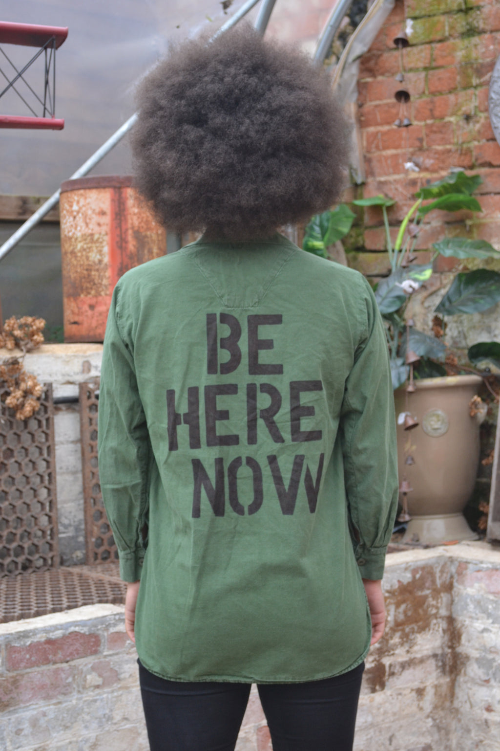'Be Here Now' Swedish Army Shirt