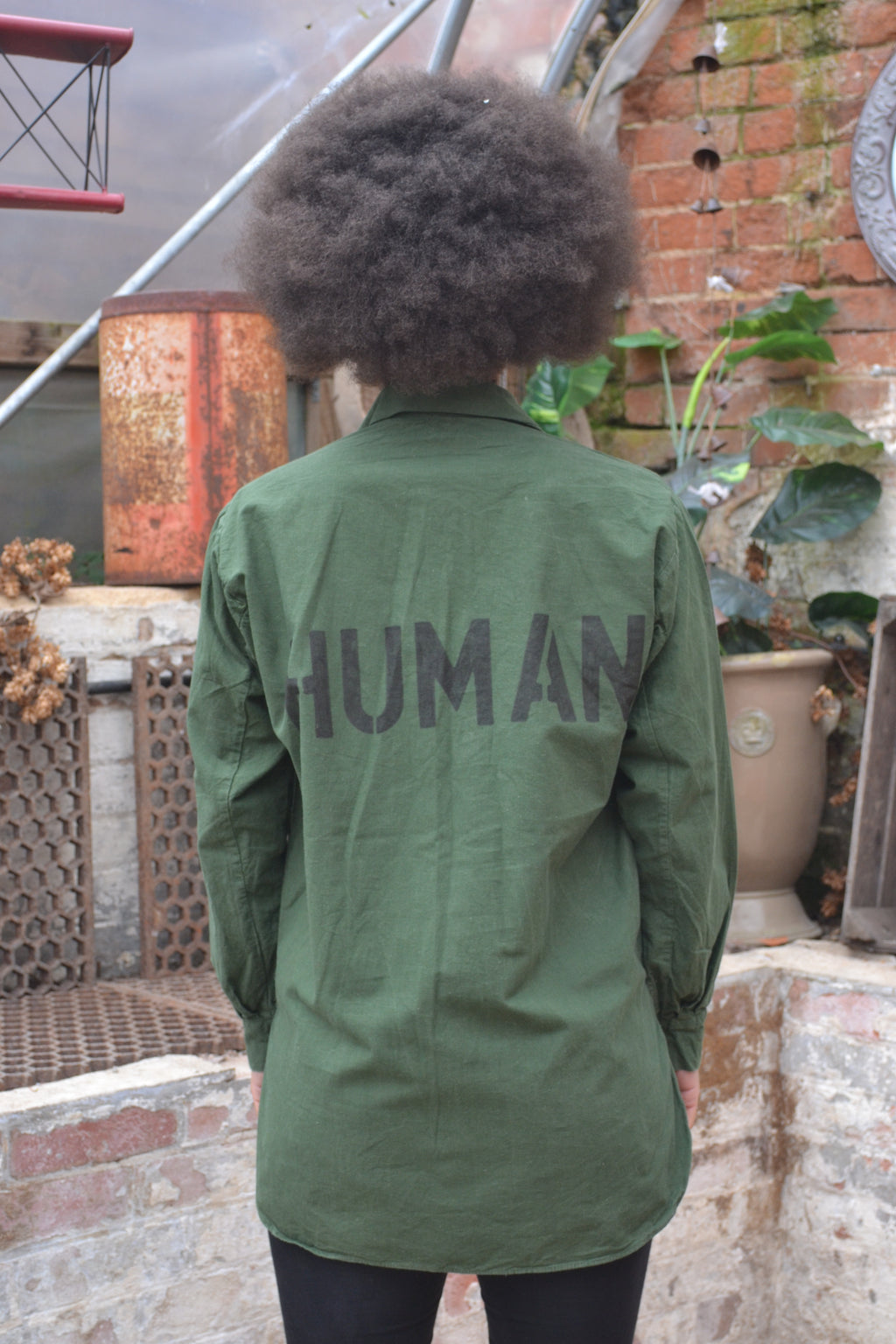 Human Bird + Wolf Swedish Army Shirt - Customised