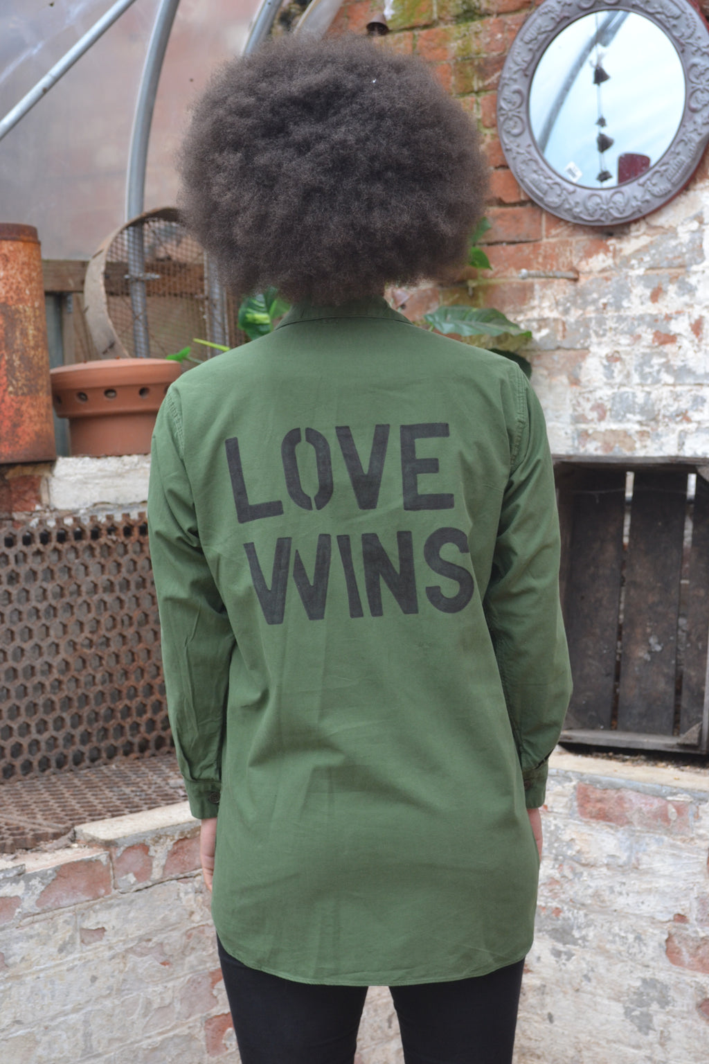 Love Wins Bird + Wolf Swedish Army Shirt - Customised