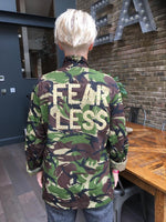 Fearless Bird + Wolf Green Camo Jacket Customised Army Camouflage