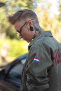 Bespoke Bird + Wolf Dutch Army Jacket Customised