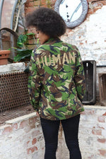 Human Bird + Wolf Green Camo Jacket Customised Army Camouflage