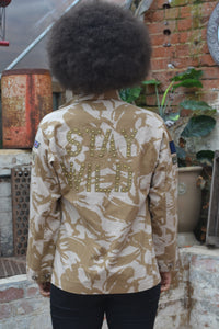 Stay Wild Bird + Wolf Desert Camo Jacket - Customised Camouflage Army