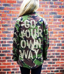 'Go Your Own Way' Green Camo Jacket