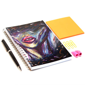 """Lips"" Art Notebook- 5'' x 7''"