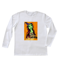 "Load image into Gallery viewer, ""Hot Girl Halloween"" Women's Long Sleeve"