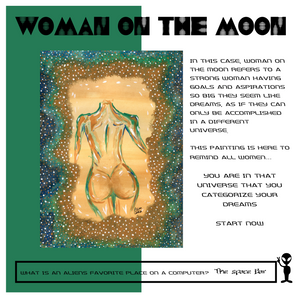 """Woman on the Moon"" Women's Form Fit"
