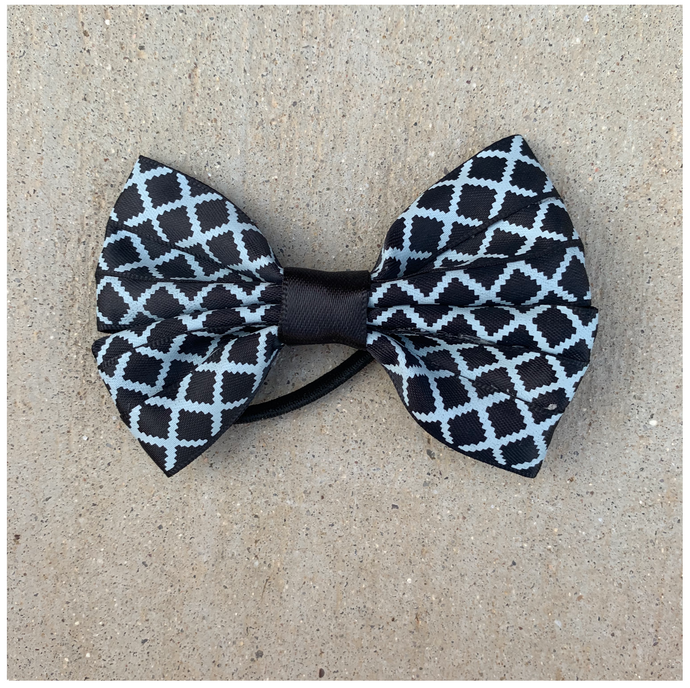 Black & Blue Bow
