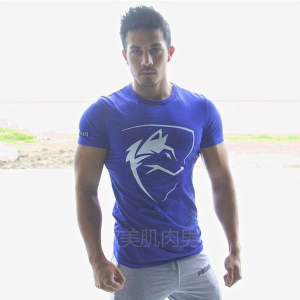 2018 Brand men T-Shirt Fitness Slim fit Shirts Crossfit Short sleeve Cotton clothes Fashion Leisure O-Neck ALPHALETE printed Tee