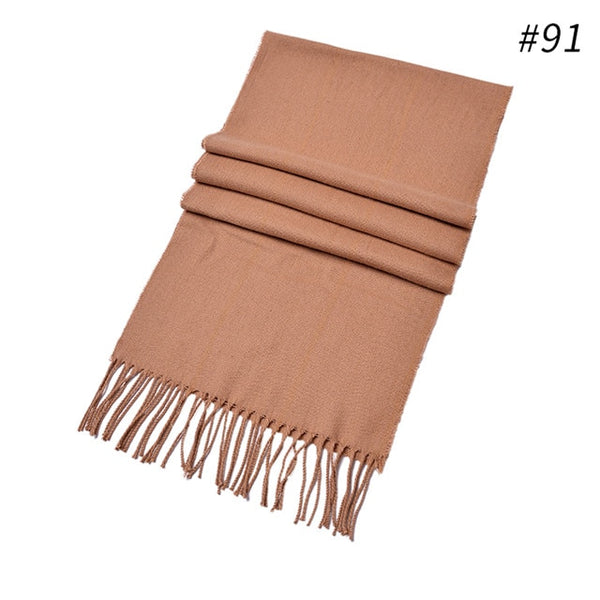 New Soft Cashmere Scarves Plaid Check Warm Oblong Fringe Unisex Man Woman's Scarf Pashimina