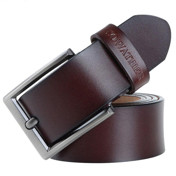 genuine leather luxury strap male belts for men new fashion classice vintage pin buckle