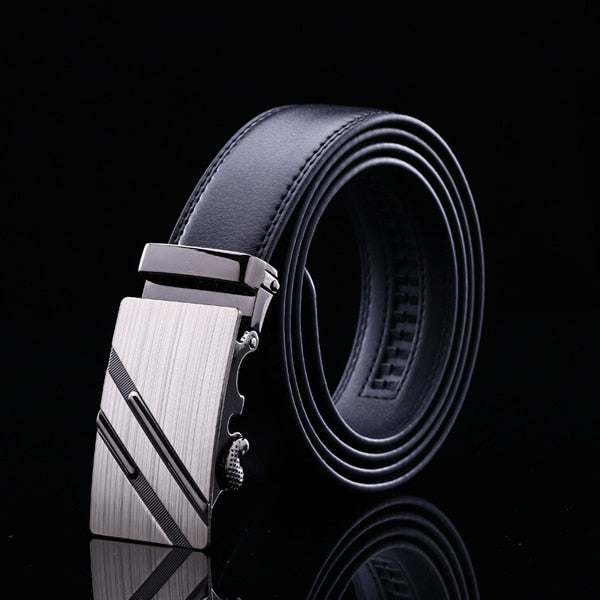Automatic Buckle Fashion Belts For Men Business Popular Male Brand Black Belts Luxury