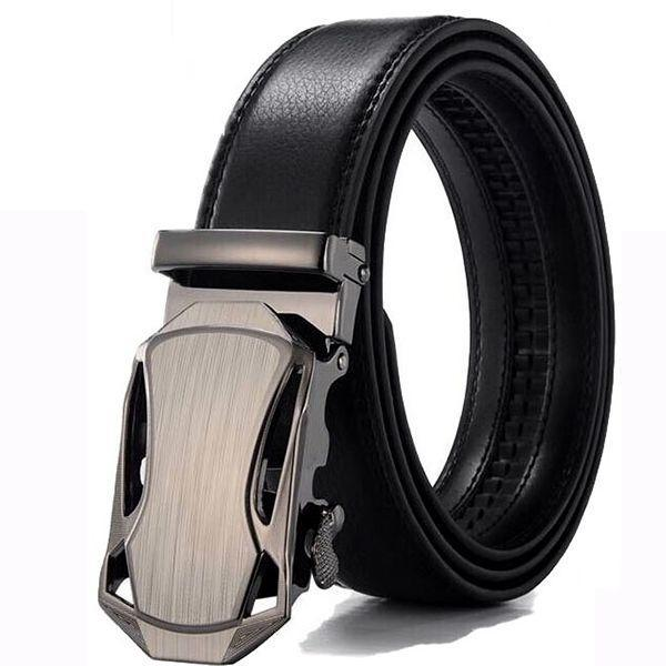 Men Automatic Male Belts Cummerbunds Leather Belt Men dropshipping Black Belts cinturon hombre