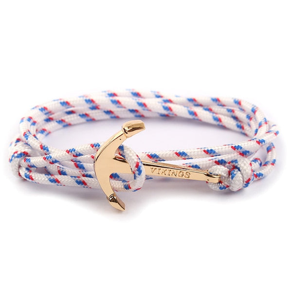 Anchor Wrap Metal Sport Hooks - Bracelets For Men - kartbliss