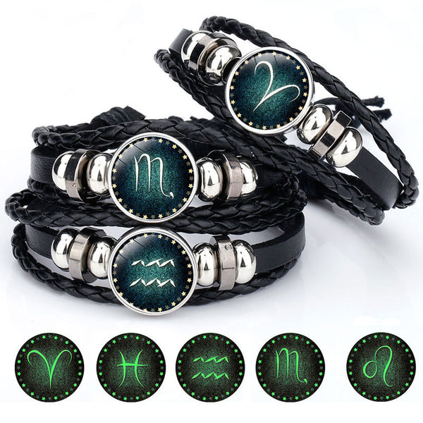 Luminous & Leather Charm Bracelets for all - kartbliss