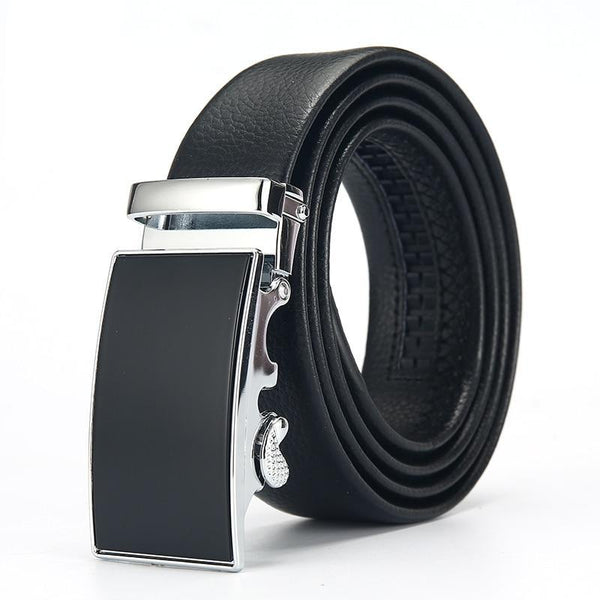 Luxury Black Belt Men's Belts Automatic Buckle High Quality Business Male Men's Belts
