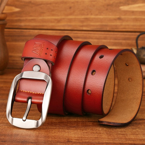 High Quality Genuine Leather Luxury Strap Male Belts For Men Jeans Casual Belt