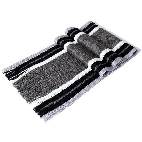 Newest Design Scarf Men Winter Striped Cotton Scarf Casual 180*23CM Women Scarf With Tassels