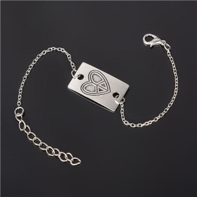 Simple Style Silver Plated Charm Bracelet Jewelry Gift Wedding Banquet