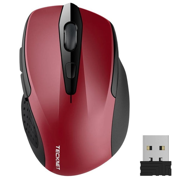 2.4GHz Wireless Mouse Nano Receiver Ergonomic Mice 6 Buttons 2400DPI