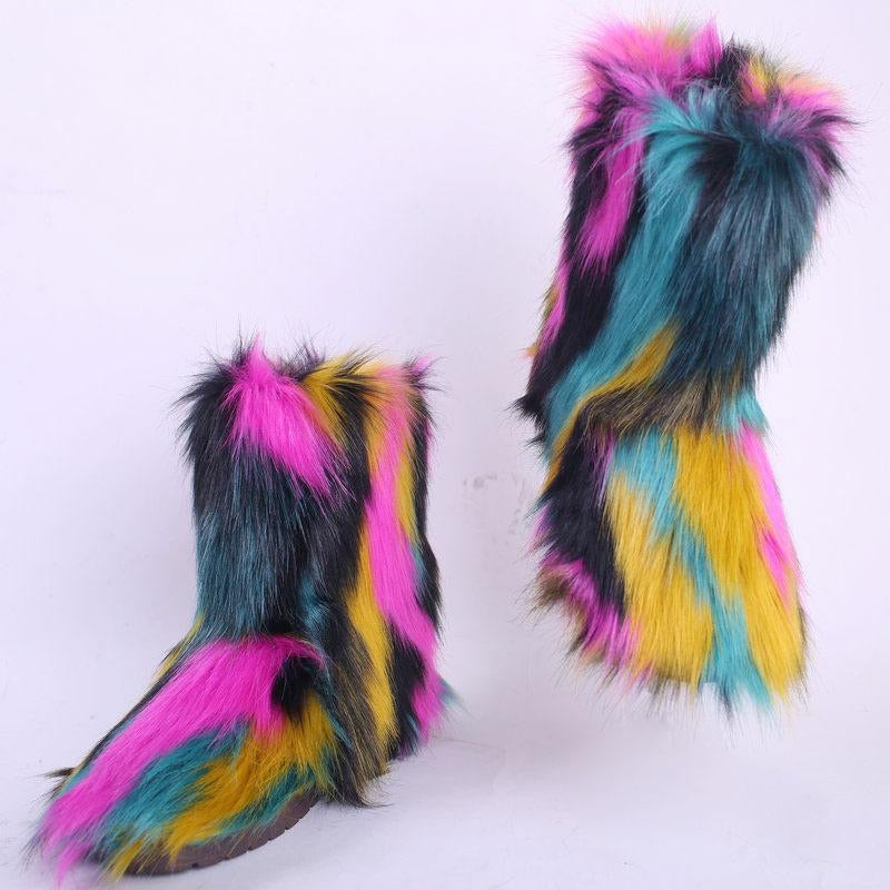 Faux Fur Boots - SplurgeCustoms