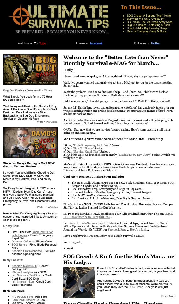 Ultimate Survival Tips - Sample e-MAG - March