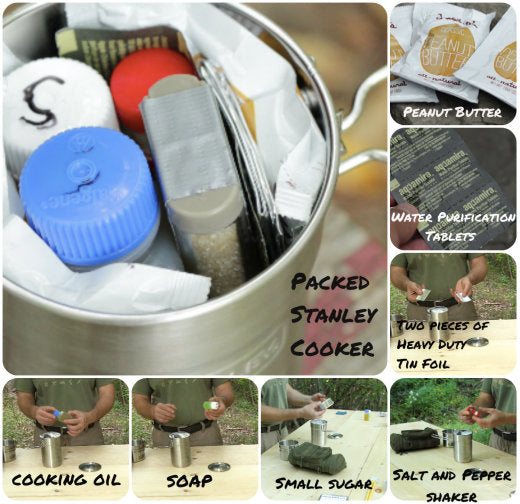 All of this goes on top of the gas canister which fits in to the bottom of the cooker!
