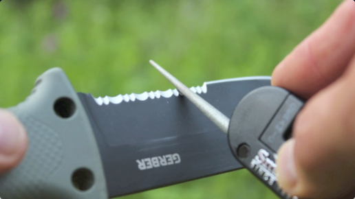 Sharpening Serrations is Easy When You Have the Right Tool