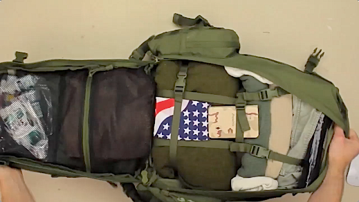 Condor 3-Day Assault Pack main-compartment-opened-up-b