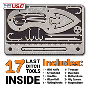 Tiny Survival Card: 17 Tool Survival Kit - Fits in Wallet