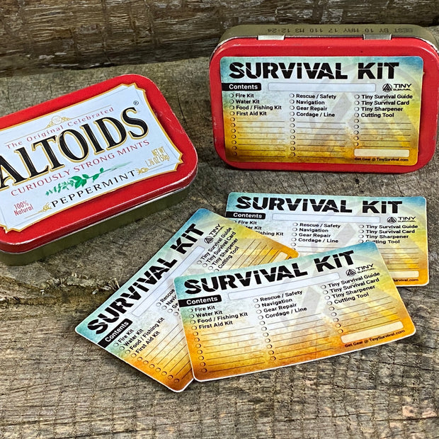 DIY - Altoids® Tin Survival Kit Checklist Stickers - 3 Pack