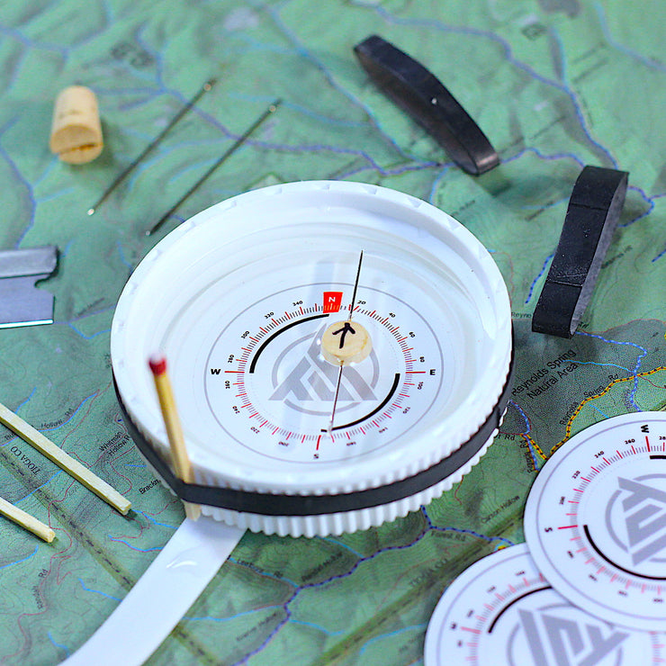 DIY - Water Bottle Compass Stickers ONLY - 2 Pack